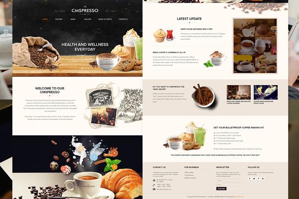 Theme wordpress web bán cà phê cần sự độc đáo, ấn tượng