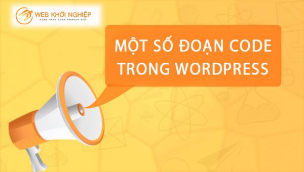 Một số đoạn code phổ biến dành cho wordpress