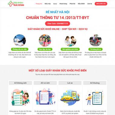 Theme Wordpress dịch vụ khám sức khỏe 01