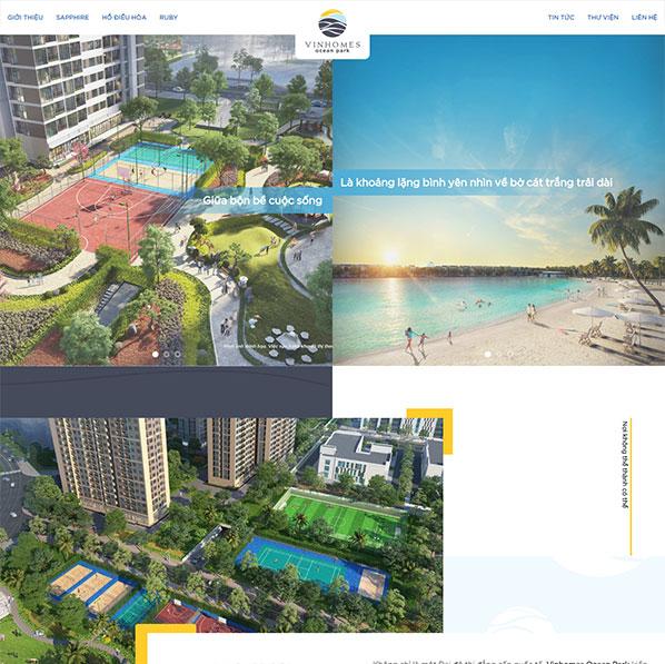 Theme Wordpress bất động sản Ocean Park