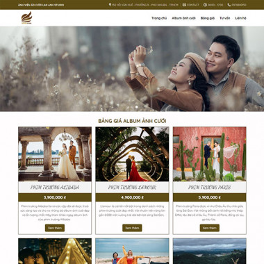Theme Wordpress Flatsome dịch vụ chụp ảnh cưới