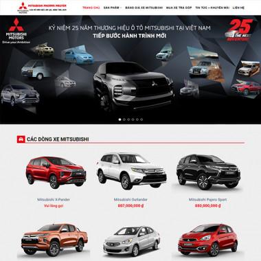 Theme Wordpress bán xe Mitsubishi