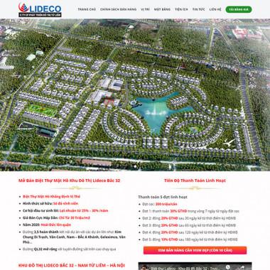 Theme Wordpress Flatsome bất động sản Lideco
