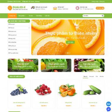 theme wordpress flatsome thực phẩm sạch