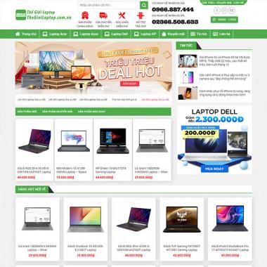 theme wordpress bán laptop mã số 02