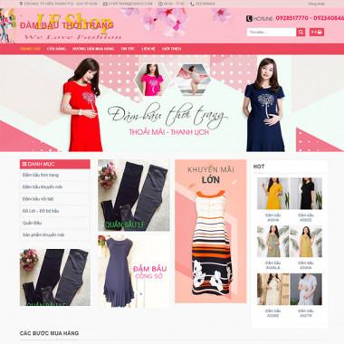 theme wordpress quần áo thời trang