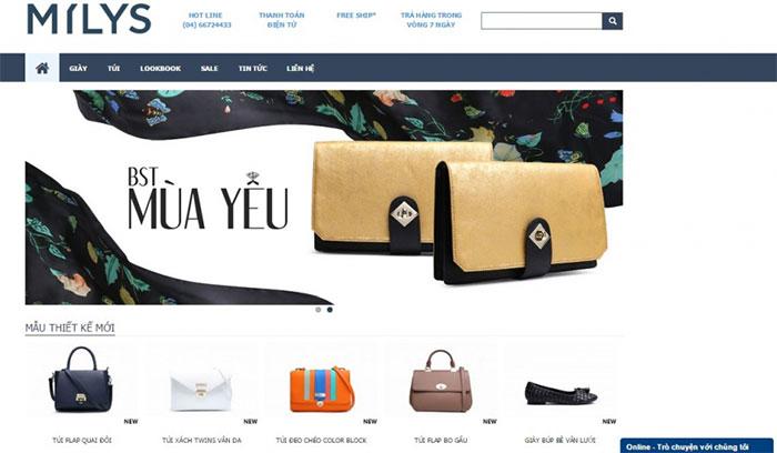 thiết kế website kết hợp với hình ảnh sản phẩm