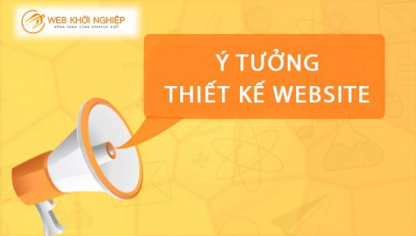 ý tưởng thiết kế website