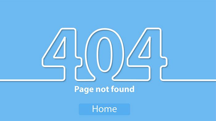 trang báo lỗi 404 giúp thông báo lỗi đến cho người dùng