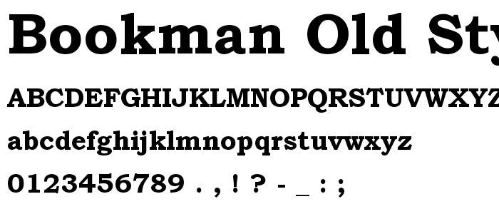 font bookman, font chữ nét đậm chuyên dùng định dạng tiêu đề