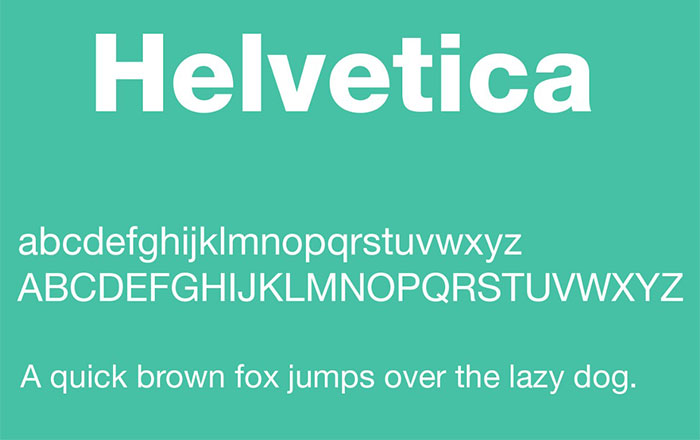 font helvetica trong thiết kế web