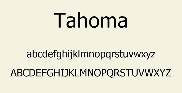 font tahoma - font chữ tròn đẹp