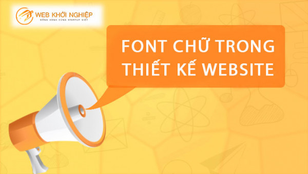 font chữ trong thiết kế website