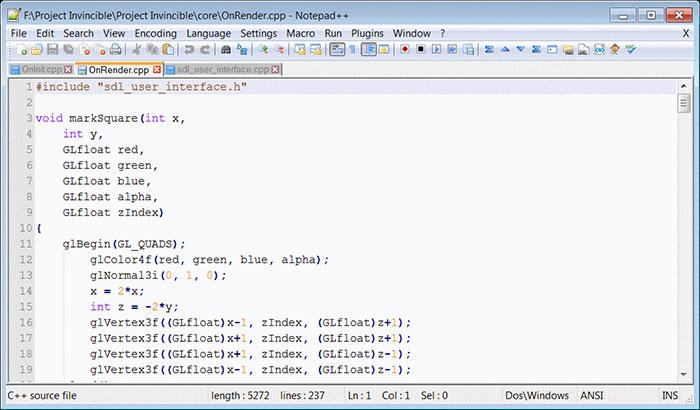 notepad++, công cụ hỗ trợ lạp trình đơn giản