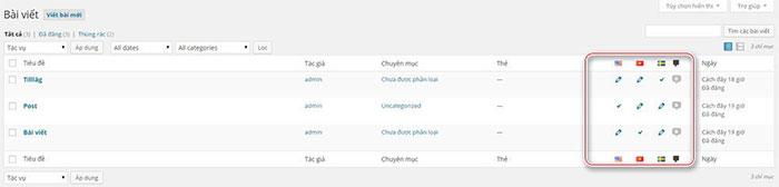 thiết lập post/page đa ngôn ngữ với polylang