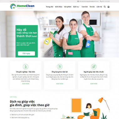theme wordpress dịch vụ dọn nhà